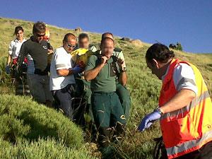 Rescate piloto de parapente en el Calvitero, Sierra de Béjar