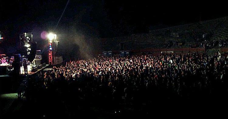 un momento del concierto de rock, Abejarock