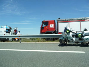 Accidente A-66 Guijuelo