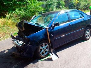 Coche involucrado en el accidente