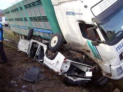 Estado del vehiculo tras el accidente