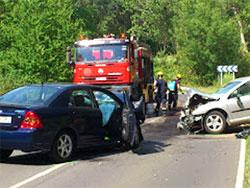 Accidente carretera Béjar - Candelario