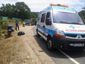 Accidente de Moto en Cristobal