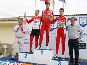 El ciclista bejarano hizo podium en las tres etapas dela vuelta a Talavera Master