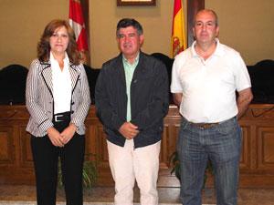 Purificación Pozo, Alejo Riñones y Santiago Yuste