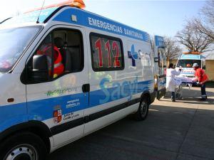 Ambulancia de los servicios de emergencias 112