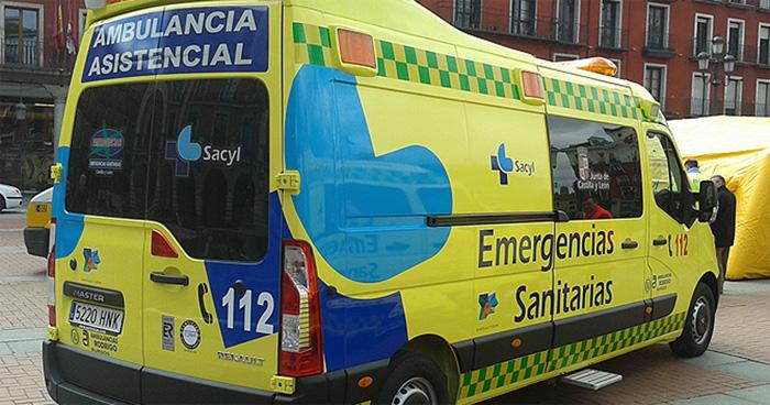 Ambulancia de los servicios de emergencias del 112