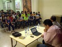 José Crespo durante la charla deportiva ofrecida en Béjar