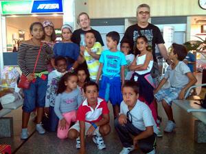 Niños Saharauis en el Aeropuerto de Valladolid