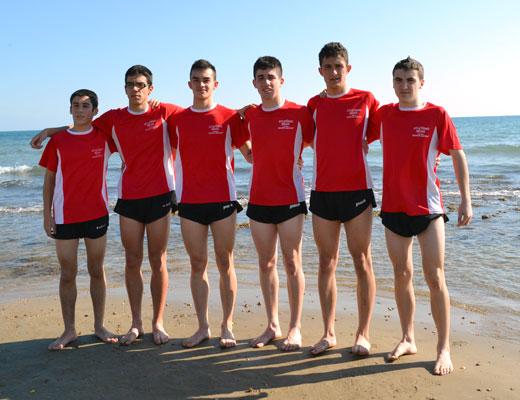 Equipo juvenil del Club de Atletismo Bejarano
