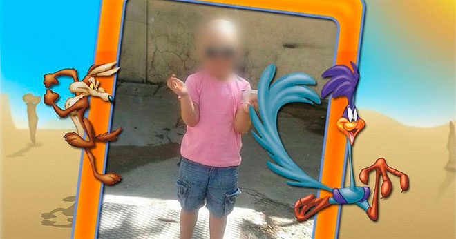 Imagen de diego , el niño bejarano enfermo de cancer