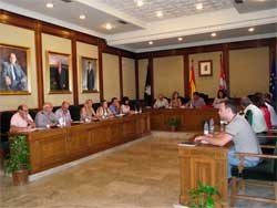Pleno municipal de Béjar. 28 de agosto de 2012