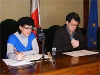Blanca Cerrudo y Manuel Martin Bejarano, Ayuntamiento de Béjar