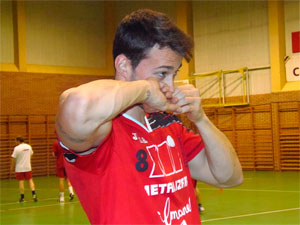 Jugador del Club Polideportivo Bejarano de Balonmano