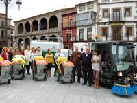 Presentación de la nueva empesa de limpieza viaria, Béjar