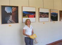 Concha Perez en la inauguración de la exposición, Béjar