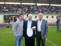 Francisco Argenta en el homenaje recibido por el Béjar Industrial