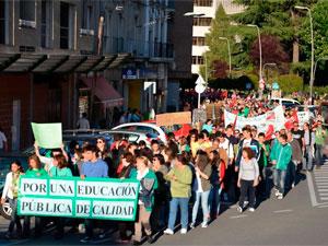 Manifestación educación en Béjar