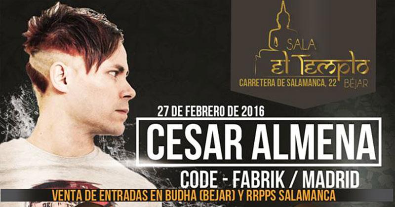 vista parcial del cartel anunciador del  I Bejar Techno festival