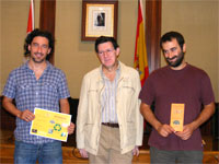 Manuel Martin junto a representantes del proyecto, Béjar