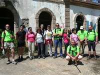 Grupo deportivo Bomberos Béjar durante la Ruta de la Fregeneda