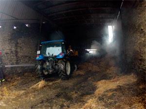 Incendio en Pajar en Casafranca
