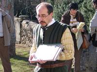 Pepe Muñoz durante una de las visitas