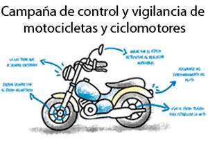 Cartel Campaña de control de motocicletas DGT