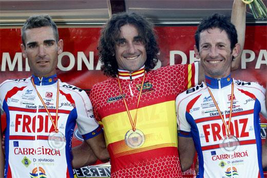 Raúl García, Moisés Dueñas y Ángel Vallejo