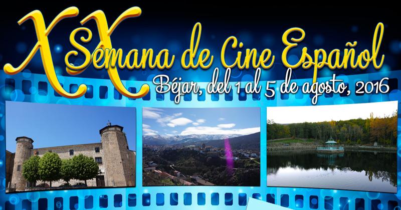Vista parcial del cartel de la XX semana de Cine Español de Béjar