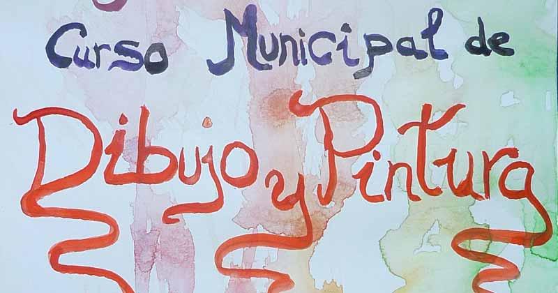 parte del cartel anunciadorde los curso municipales de dibujo y pintura