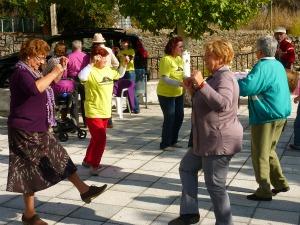 Bailes durante el III día de las Castañas. Escurial de la Sierra