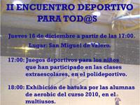 II Encuentro deportivo Caud Fondo, San Miguel de Valero