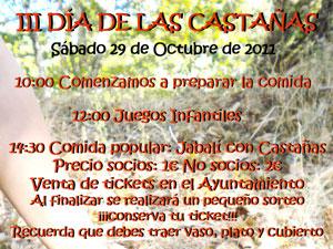 Cartel del III Día de Las Castañas.</body></html>