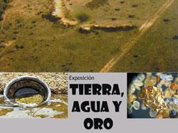 Cartel exposición Tierra, Agua y Oro, Las Cavenes