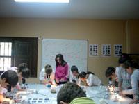 Alumnos del colegio Nuestra Señora del Castañar en Las Cavenes