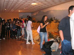 Vista de escolares a Las Cavenes