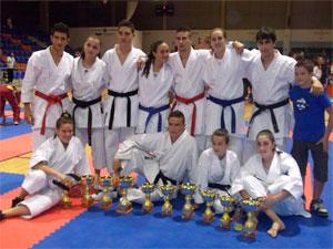 Competidores del Club Deportivo La Luna durante el Campeonato Regional de Valladolid