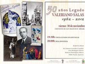 Cartel 50 años de Legado Valeriano Salas