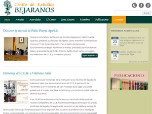 Web del Centro de Estudios Bejaranos