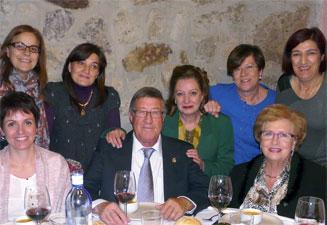 Cesareo Requjo junto a sus compañeros del Centro de Salud de Béjar