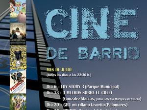 Cartel Cine de Barrio en Béjar