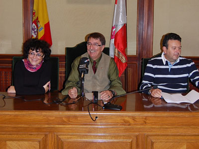 Blanca Cerr, Cipriano González y Raúl Hernández