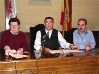 Manuel Martín, Cipriano González y Juan Tomás Sánchez