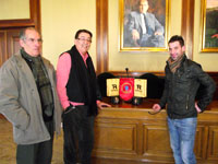 Cipriano González junto a Jorge Paredes y Ángel Vicente