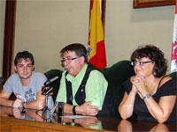 Cipriano González, Blanca Cerrudo y Fernando Arroyo