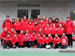 Miembros del colectivo de atletismo