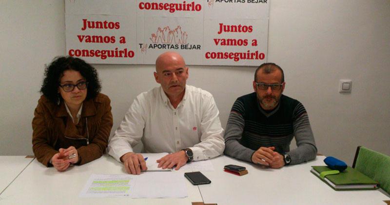 Blanca Cerrudo, Javier Garrido y Jesús Núñez, concejales de TAB