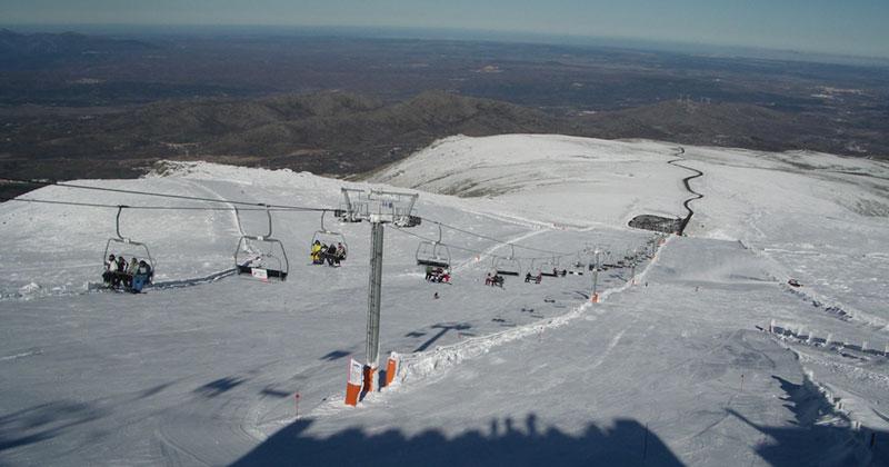pistas de la estación de esqui de la covatilla sierra de bejar