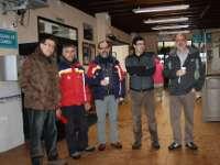Alcalde de Béjar junto a responsables de Gecobesa